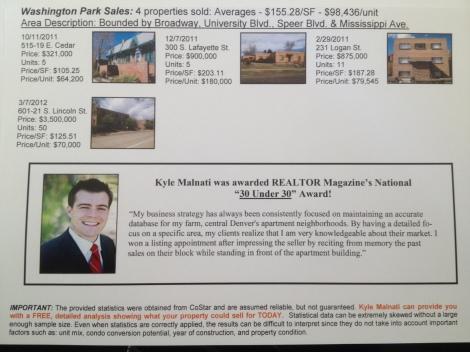 Washington Park Apartment Building Sales 2Q2012