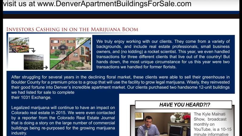 Denver Real Estate Investors Marijuana